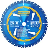 OVERPEAK 7-1/4 Inch Circular Saw Blade ATB 40 Tooth General Purpose Carbide Ultra Finish Table Saw Blades with 5/8 Inch Arbor