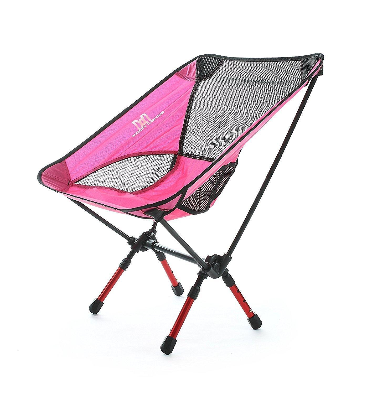 Moon Lence Sillas plegables portátiles ultraligeros de Altas Prestaciones para sillas de camping playa, altura ajustable