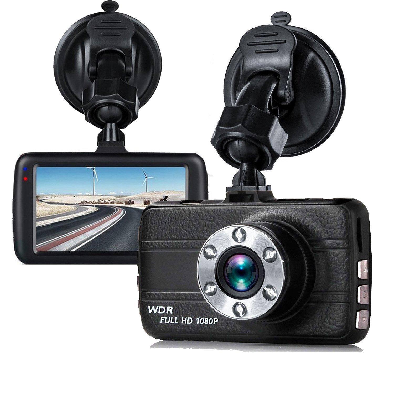 Dash Cam,EVASA 150° Wide Angle Full HD 1080P with G-Sensor,Night Vision,WDR,Loop Recording,3.0'' LCD Dashboard Camera Recorder