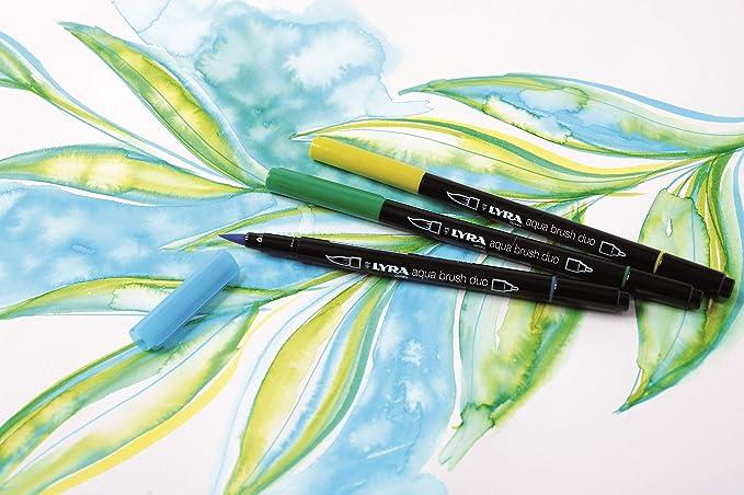 Lyra Aqua Brush Duo Brush Painters Felt Tip Pens Goldocker Goldocker
