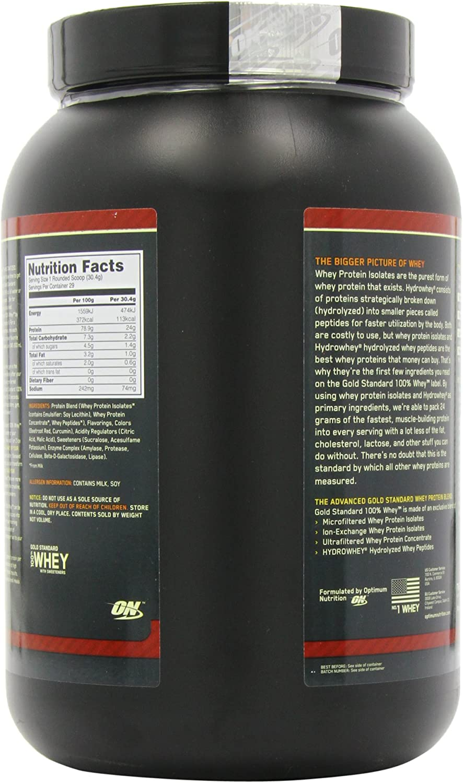 100% Whey Gold Standard 2 lbs (908g)