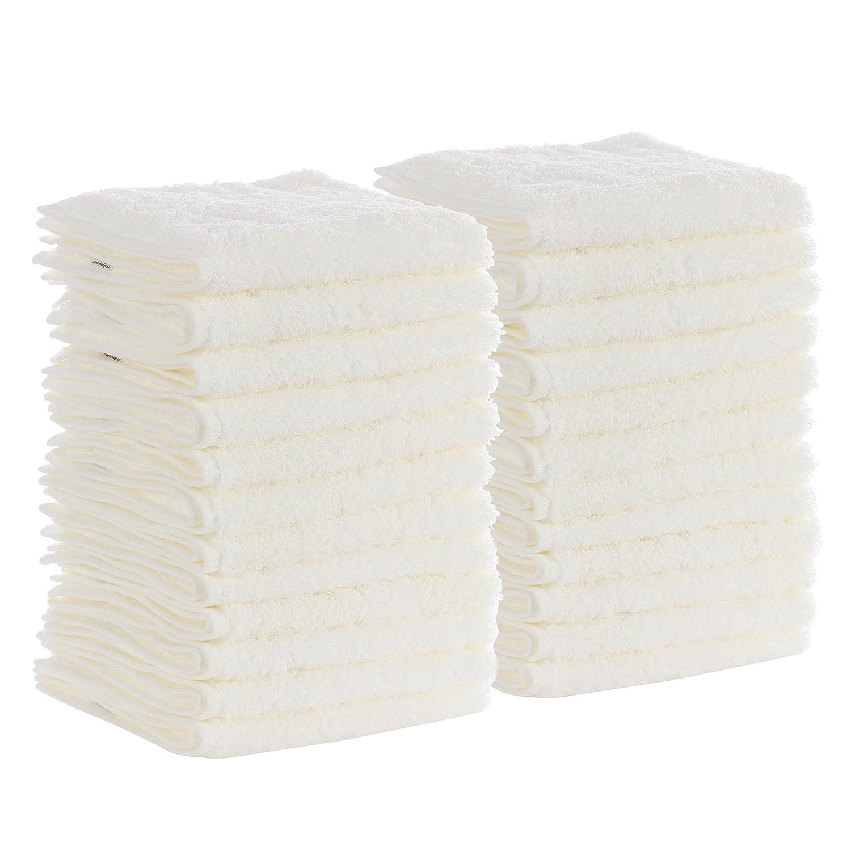有機コットンWash Cloth B01NCE9HVI White Opal 24