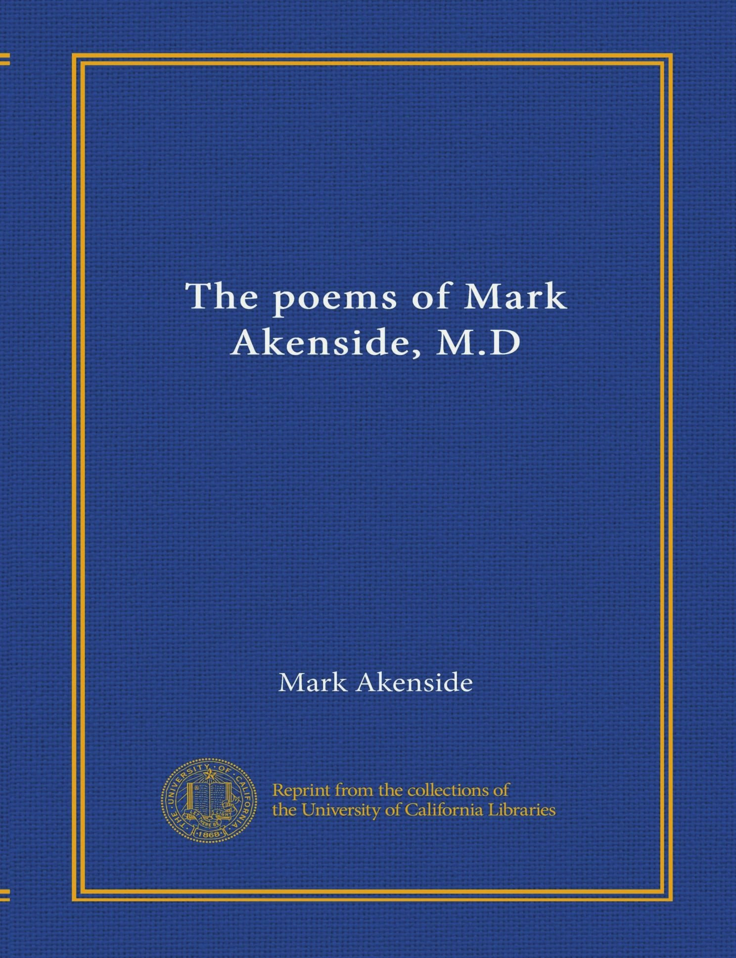 Download The poems of Mark Akenside, M.D PDF