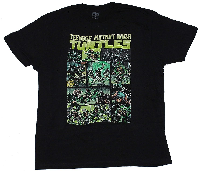 Teenage Mutant Ninja Turtles Mens T-Shirt - Color Eastman Panels