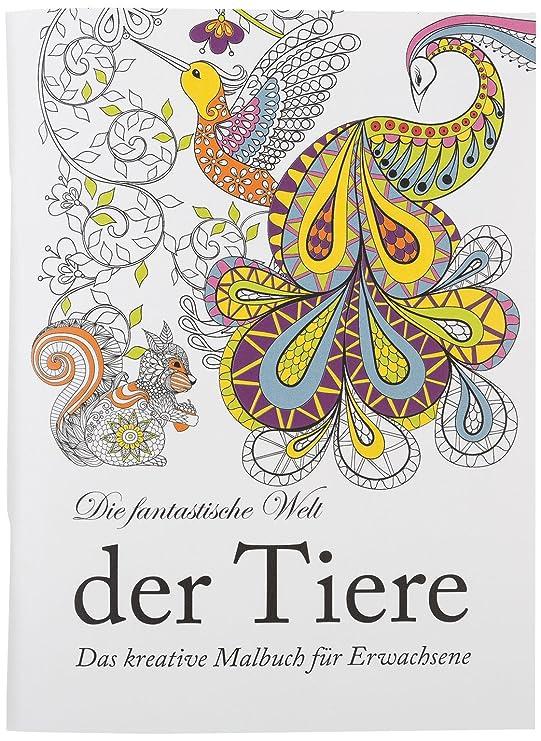 Idena 68128 - Malbuch für Erwachsene, Motiv Tiere, 64 Seiten: Amazon ...