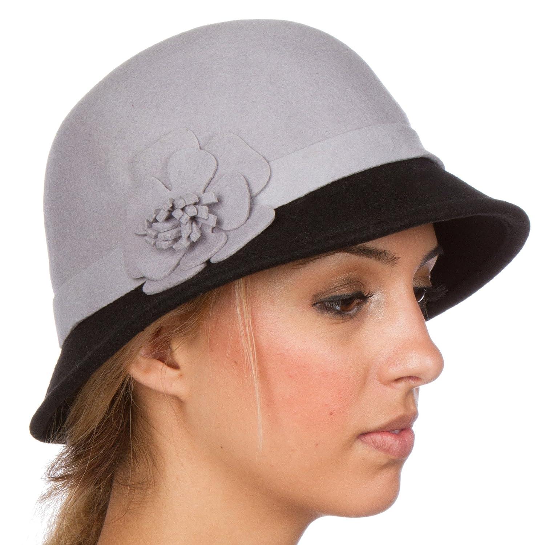 Sakkas Womens Sophia Vintage Style Wool Cloche Hat 5055460167911