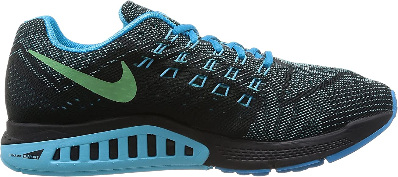 7f0ce270a8740 Nike Air Zoom Structure 18 Mens Blue Lagoon/Clrwtr-Blk-Flsh Running Shoe.  Back. Double-tap to zoom. Size: