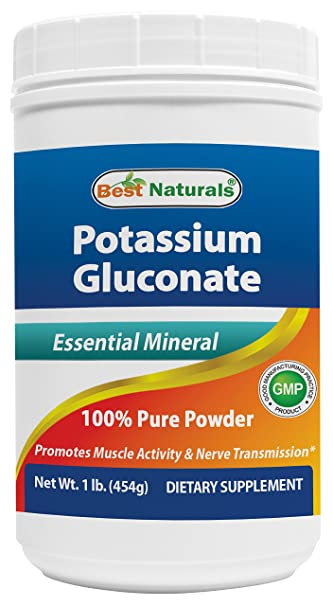 Best Naturals Potassium Gluconate 1lb Powder