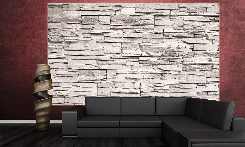 Fototapete Weiße Steinwand Wand-dekoration - Wandbild Steinmauer ...