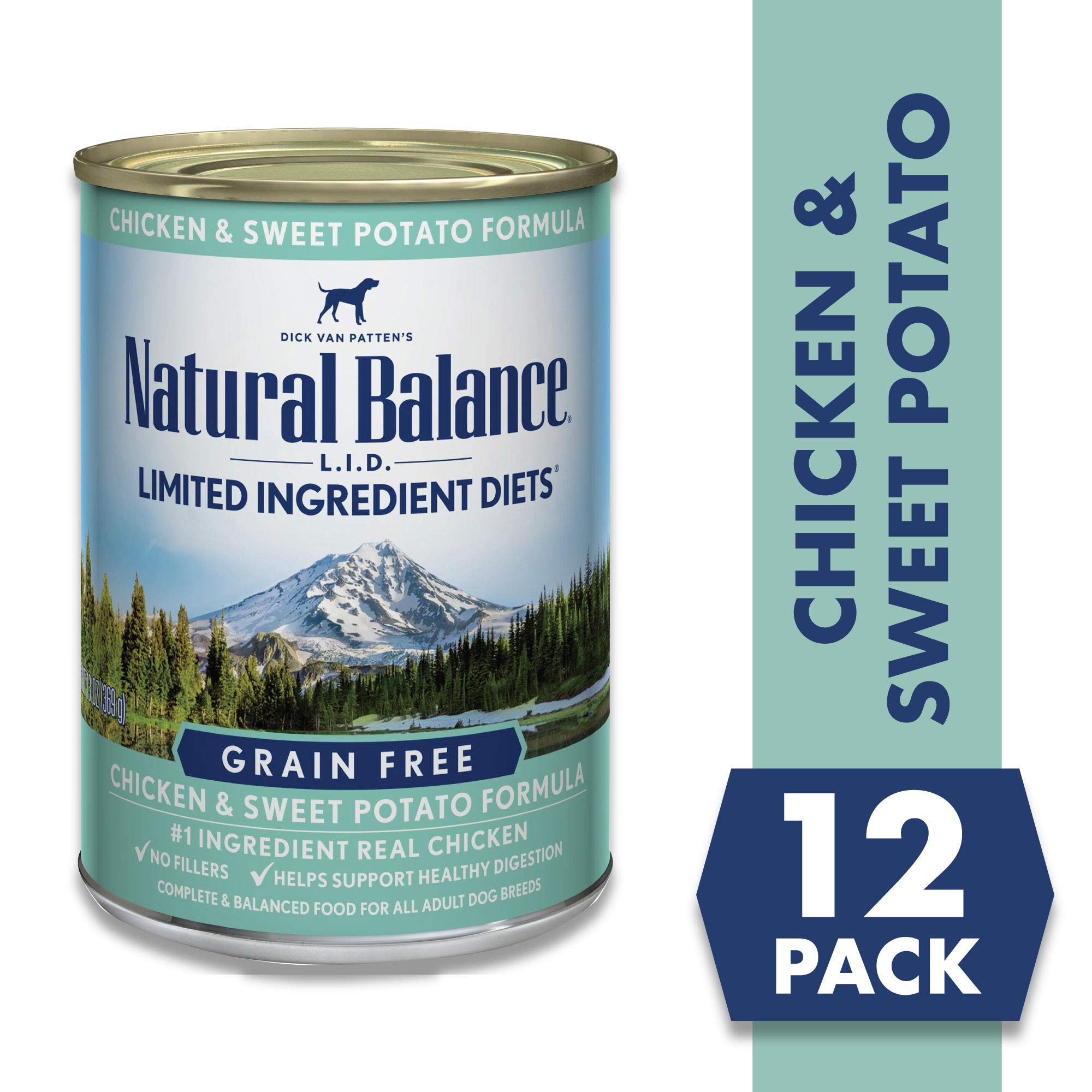 Natural Balance Limited Ingredient Diets Chicken & Sweet Potato Formula Wet Dog Food, 13 Ounces (Pack of 12), Grain Free by Natural Balance