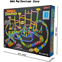Magicwand Educational Domino Rally Building Blocks Racing Tile Game (308 Pieces)