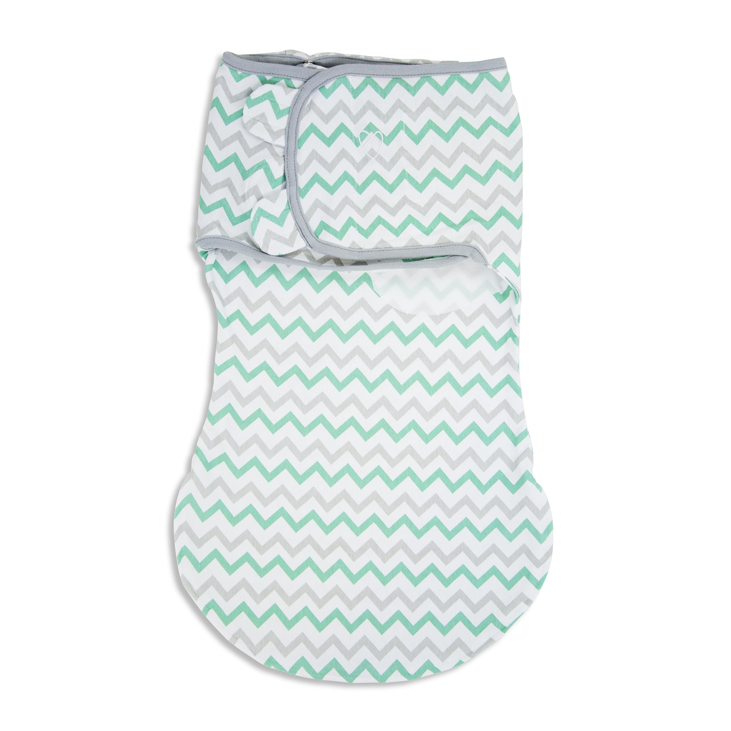 SwaddleMe WrapSack 1-PK, Teal Grey Chevron (LG)