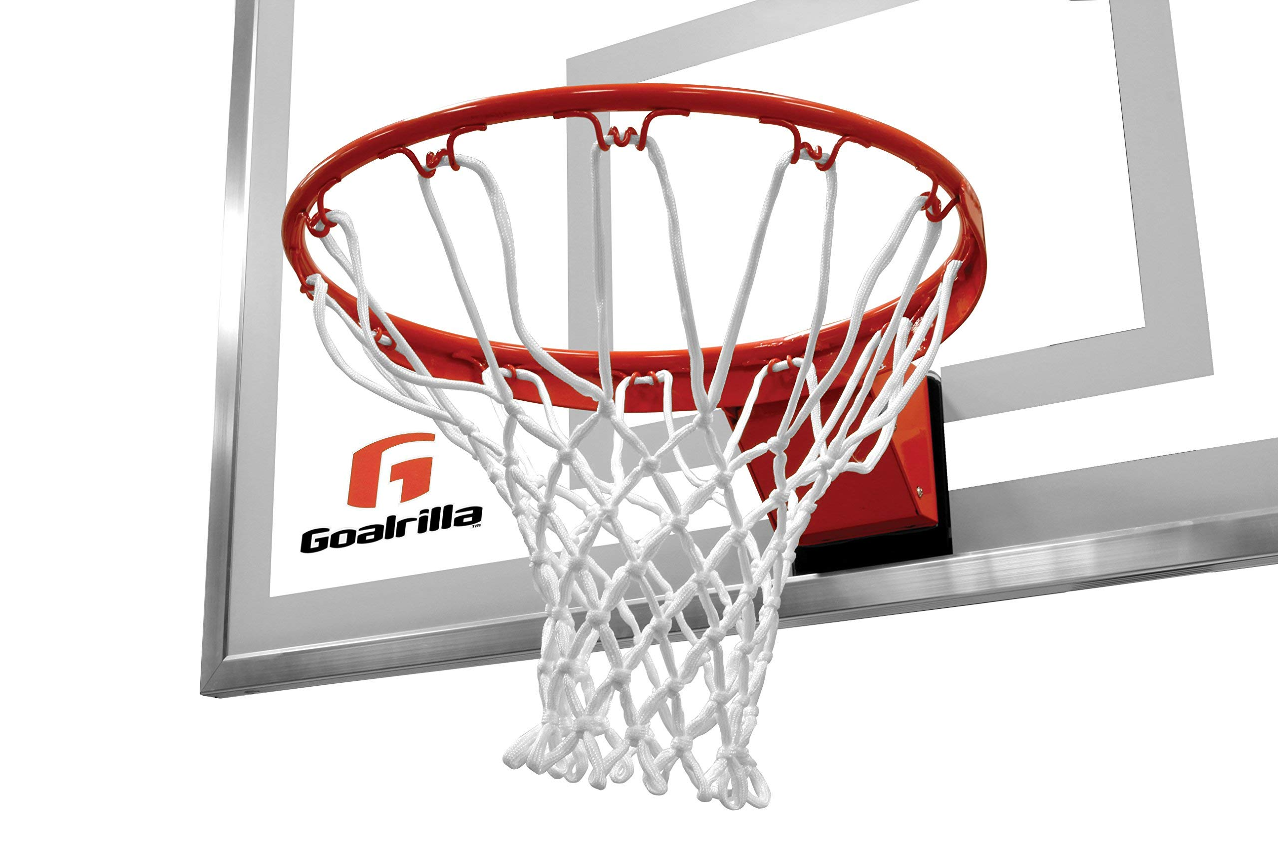 Goalrilla Heavy-Weight Pro-Style Breakaway Basketball Flex Rim with All-Weather Nylon Net and Powder-Coated Rim and Stainless Steel (Renewed)