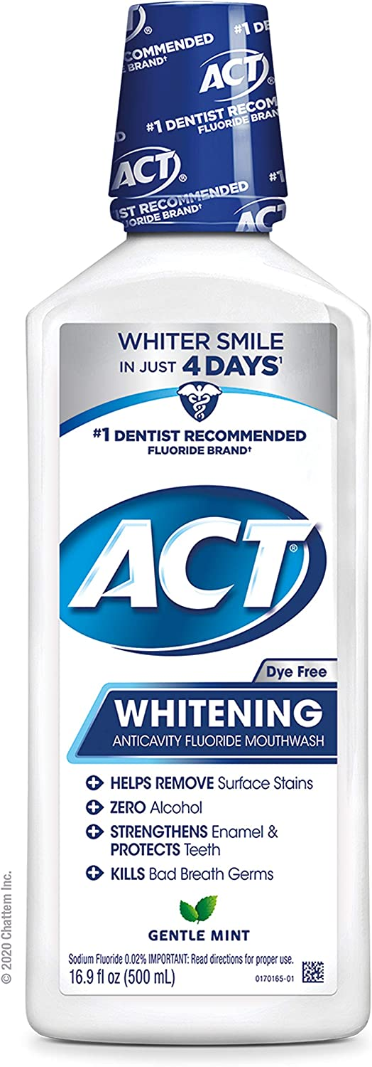 ACT Anticavity + Whitening Rinse, 16.9 Ounce: Health & Personal Care