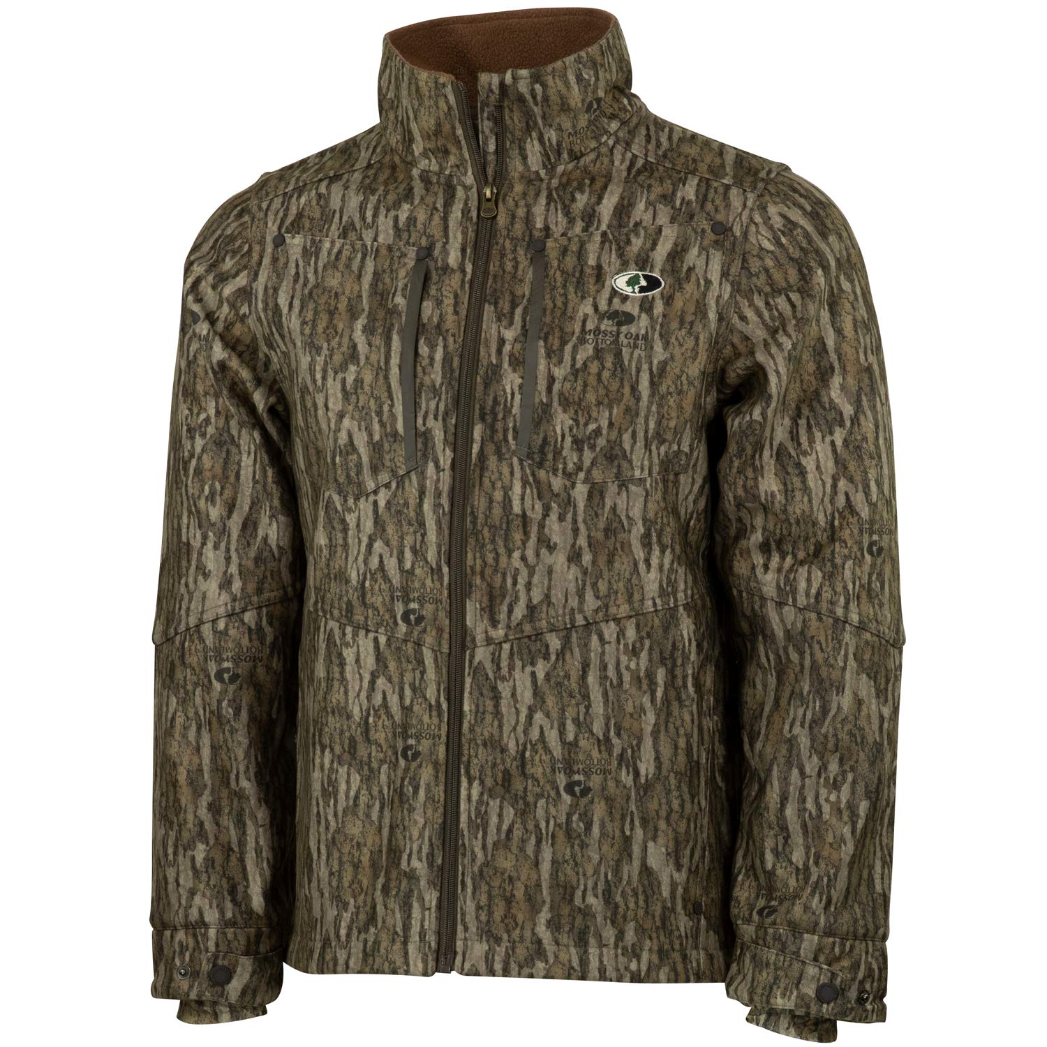 Mossy Oak Men's Camo Sherpa 2.0 Fleece Lined Hunting Jacket, Bottomland, X-Large by Mossy Oak