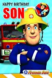 Fireman Sam FS014 Son Birthday Card