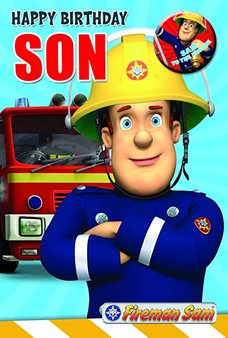 Fireman Sam FS014 Son Birthday Card Amazoncouk Office Products – Fireman Sam Birthday Cards