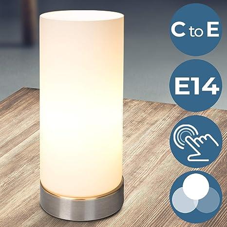 Jago - Lámpara de mesa con sensor táctil (3 intensidades de ...