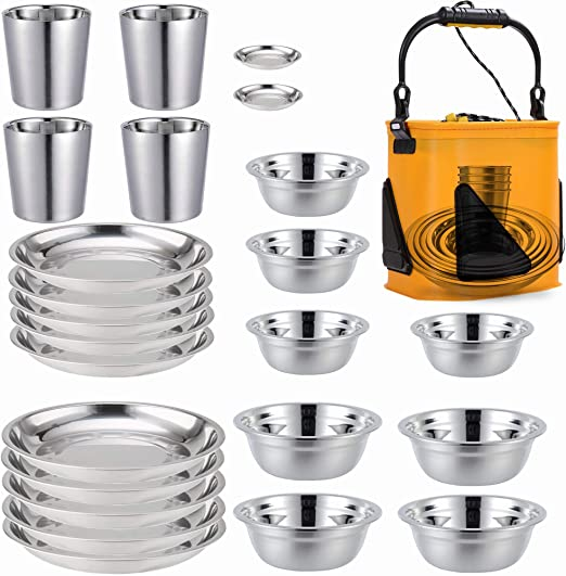 COTOM Stainless Steel Camping Set