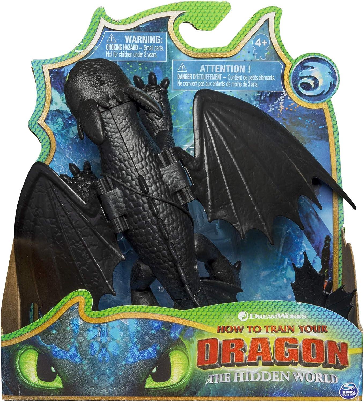 Bizak- Dragons Dragon Articulado Deluxe Toothless, Multicolor (61926548)