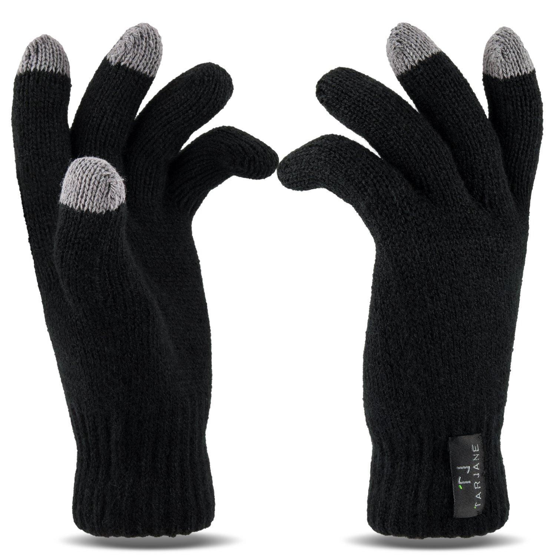 Mujer–Guantes térmicos con función de pantalla táctil screen Gloves extracálido 1.9tog, negro, talla...