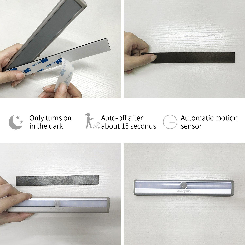 Amazoncom Moreplus Motion Sensor Lights, 10 Led Battery Operated Portable