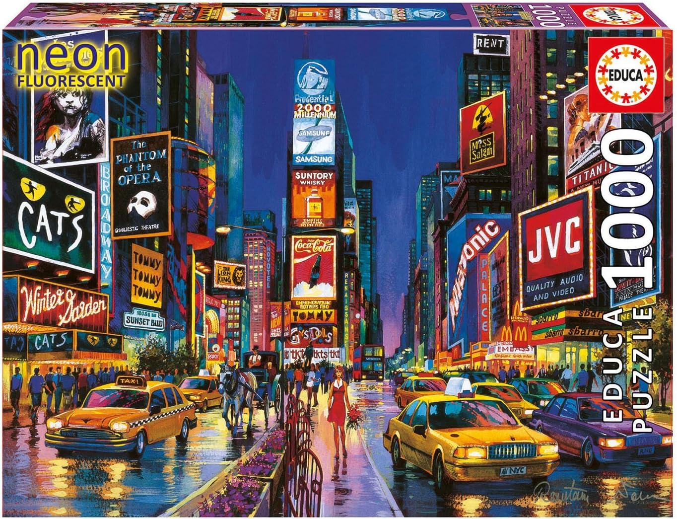 New York Neon 1000 pc puzzle Times Square