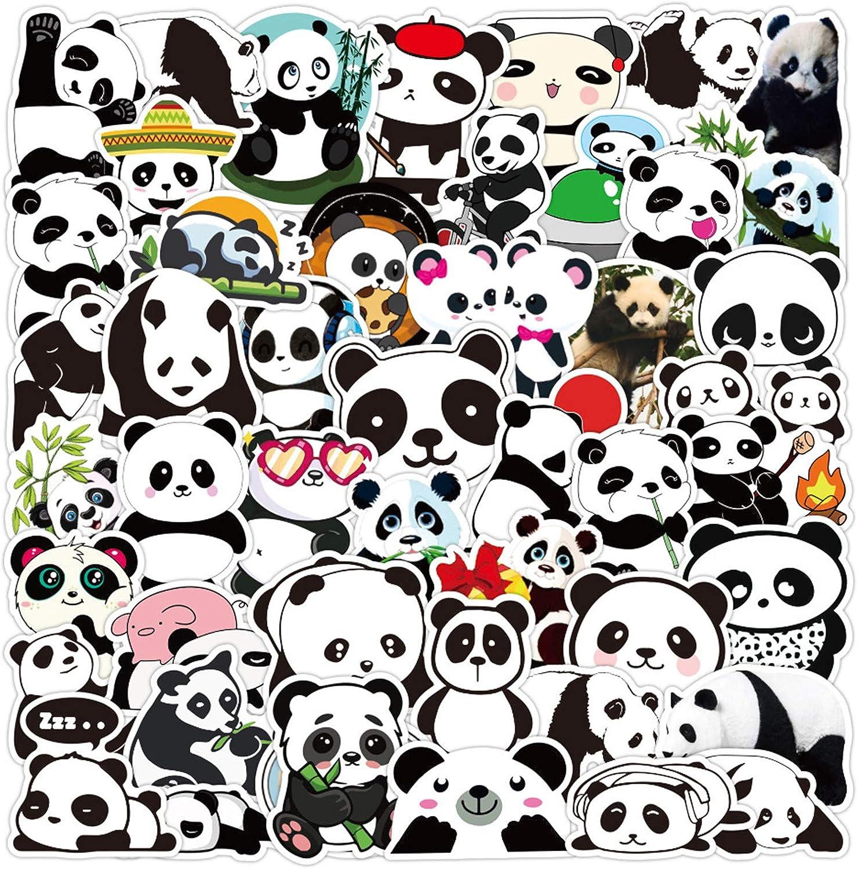 Cute Cartoon Panda Stickers (50 PCS) Funny Stickers for Teens, Girls, Adults,Kids - Stickers for Waterbottles,Laptop,Phone,Hydro Flask - Waterproof Vinyl Sticker (Panda)