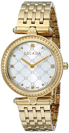 43fd227c780d Escada Women's IWW-E3235032 Vanessa Gold-Tone Stainless Steel Watch with  Link Bracelet