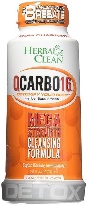 Amazon Herbal Clean Qcarbo16 Tropical 16 Fluid Ounce Mega