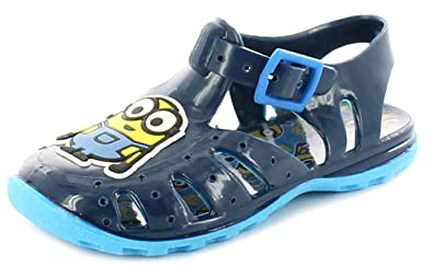 129ed5f1b0b Despicable Me Younger Boys Childrens Navy Minions Jelly Sandals. -  Navy Blue -