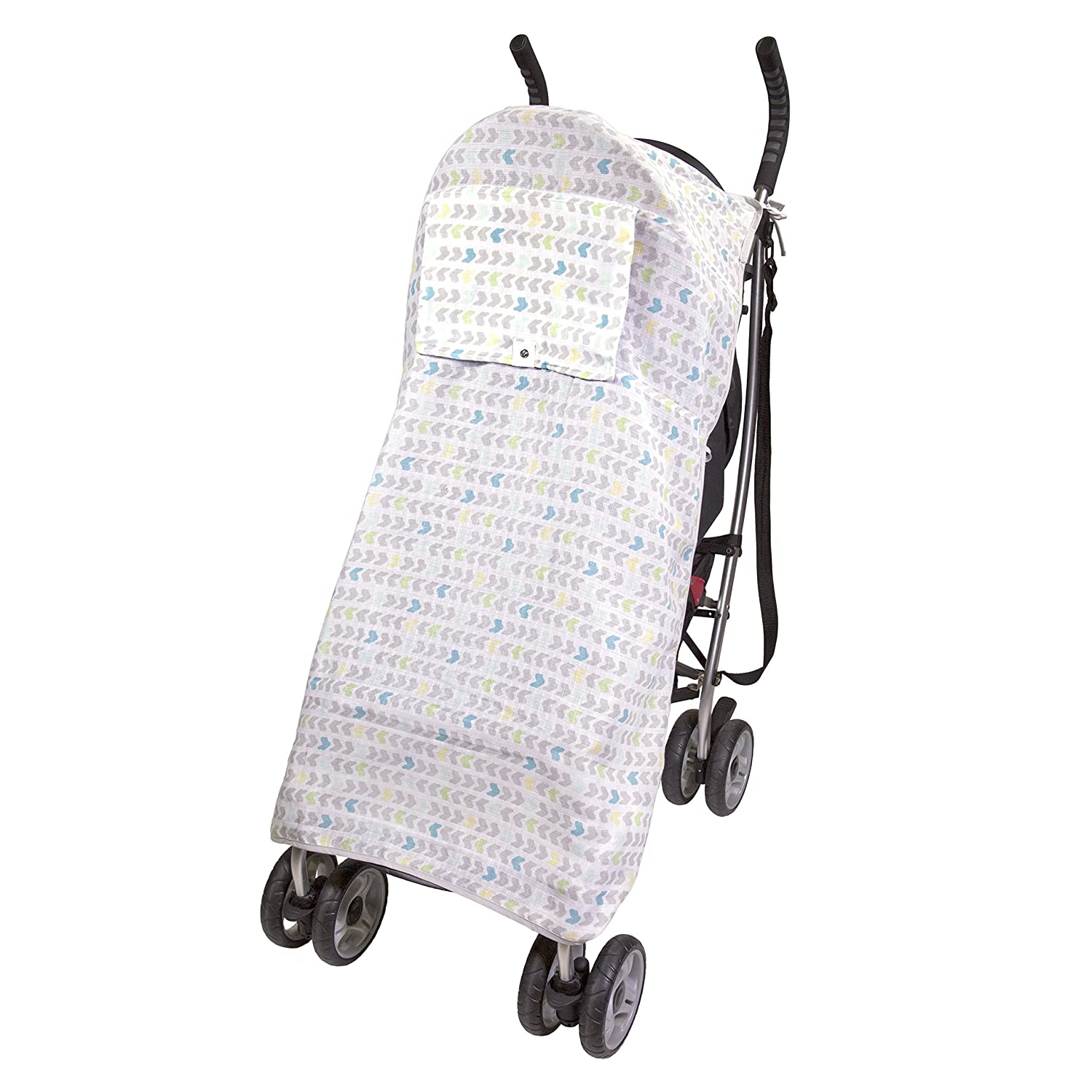 Summer Infant Muslin Stroller Blanket, Arrow Stripe 78760
