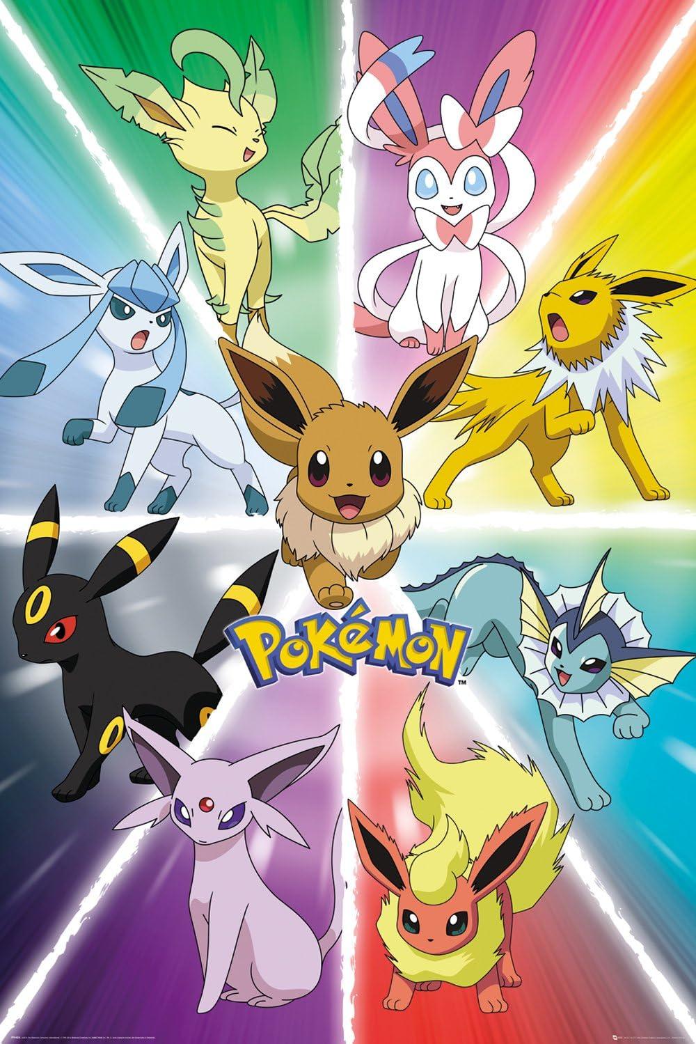 GB Eye Eevee Evolution Pokemon - Póster maxi: Amazon.es: Hogar