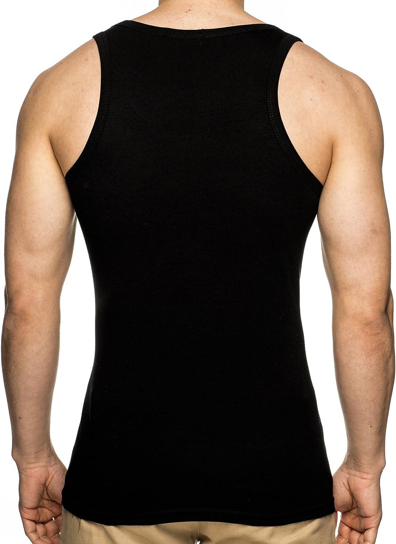 Leif Nelson Gym Herren Fitness Stringer T-Shirt Hoodie tiefer V-Ausschnitt Kurzarm Shirt Sweatshirt LN4025