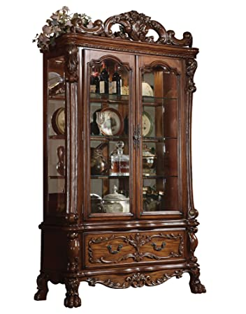 ACME 12158 Dresden Curio Cherry Oak Finish