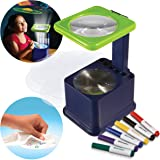 Discovery Kids Art Projector with Six Dry Erase Markers and 10 Reusable Drawing Discs, Draw on Reusable Transparent…