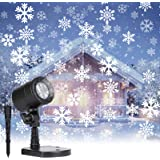 Christmas Projector Lights Outdoor: Led Snowflake Projector Lights Waterproof Plug in Moving Effect Wall Mountable for Hallow
