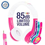 Amazon Price History for:Explore Foldable Volume Limiting Kids Headphones - Durable, Comfortable & Customizable - Built in Headphone Splitter and In Line Mic - For iPad, Kindle, Computers and Tablets - Pink
