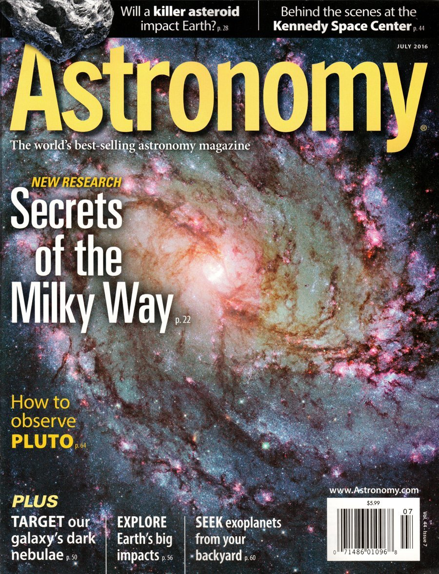 Read Online Astronomy Magazine July 2016 Vol 44 #7  Secrets of the Milky Way pdf epub