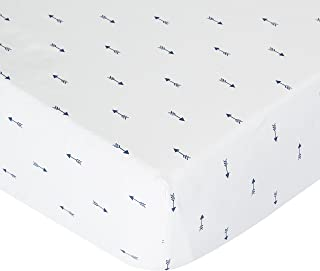 product image for Navy Mini Arrows Crib Sheet