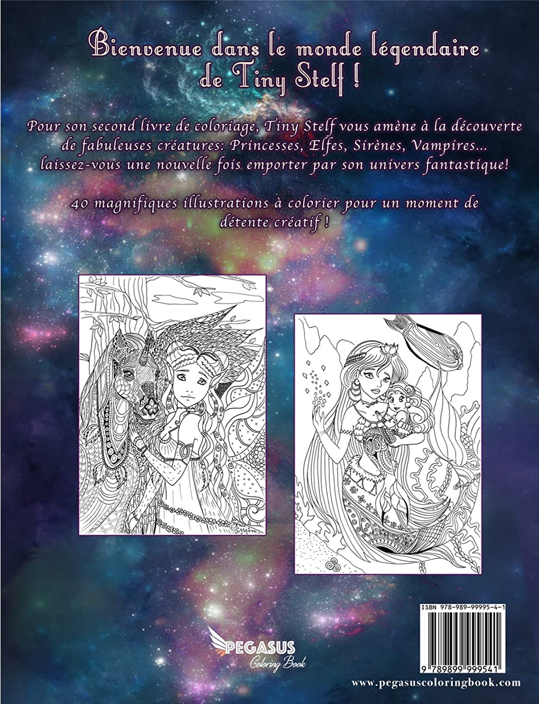 Coloriage Mandala Nature Et Decouverte.Livre De Coloriage Pour Adultes Creatures Legendaires Tiny Stelf