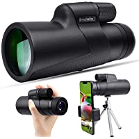 10x50 Monocular Telescope - High Power Monocular - Waterproof HD Scope for Bird Watching Wildlife Traveling Concert…
