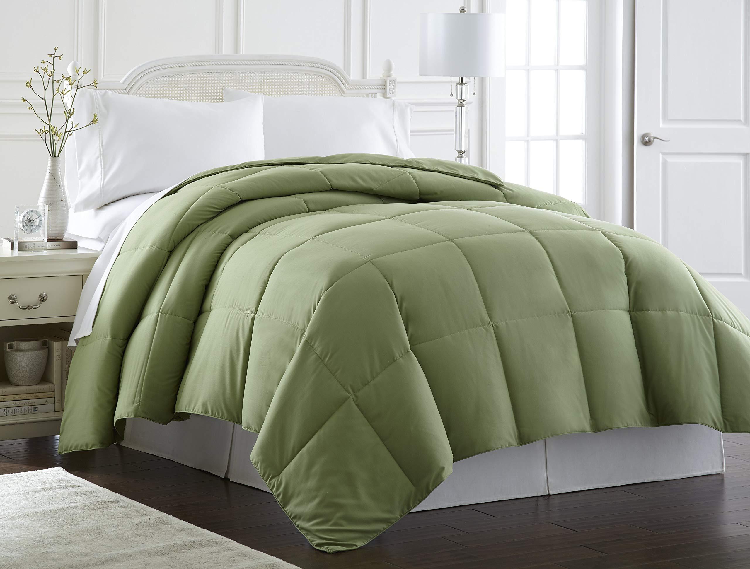 Spirit Linen Hotel 5Th Ave Milano Collection Luxurious Premier Quality Down Alternative Comforter, Full/Queen, Khaki by SPIRIT LINEN HOME