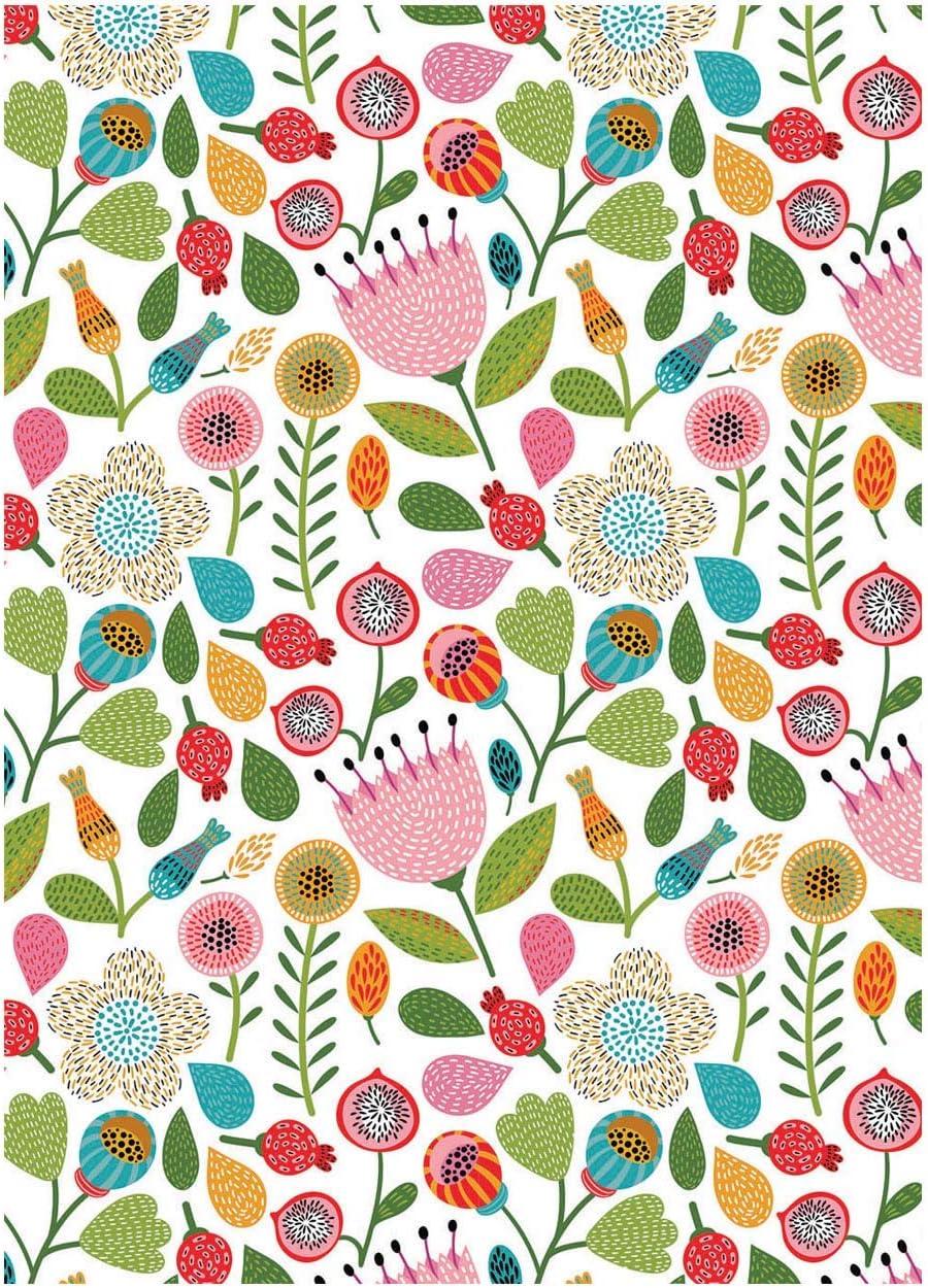 Chaque jour Lot de 10 feuilles de papier cadeau 500 x 700 mm compos/ées de 2 motifs de fleurs et de papillons chacun