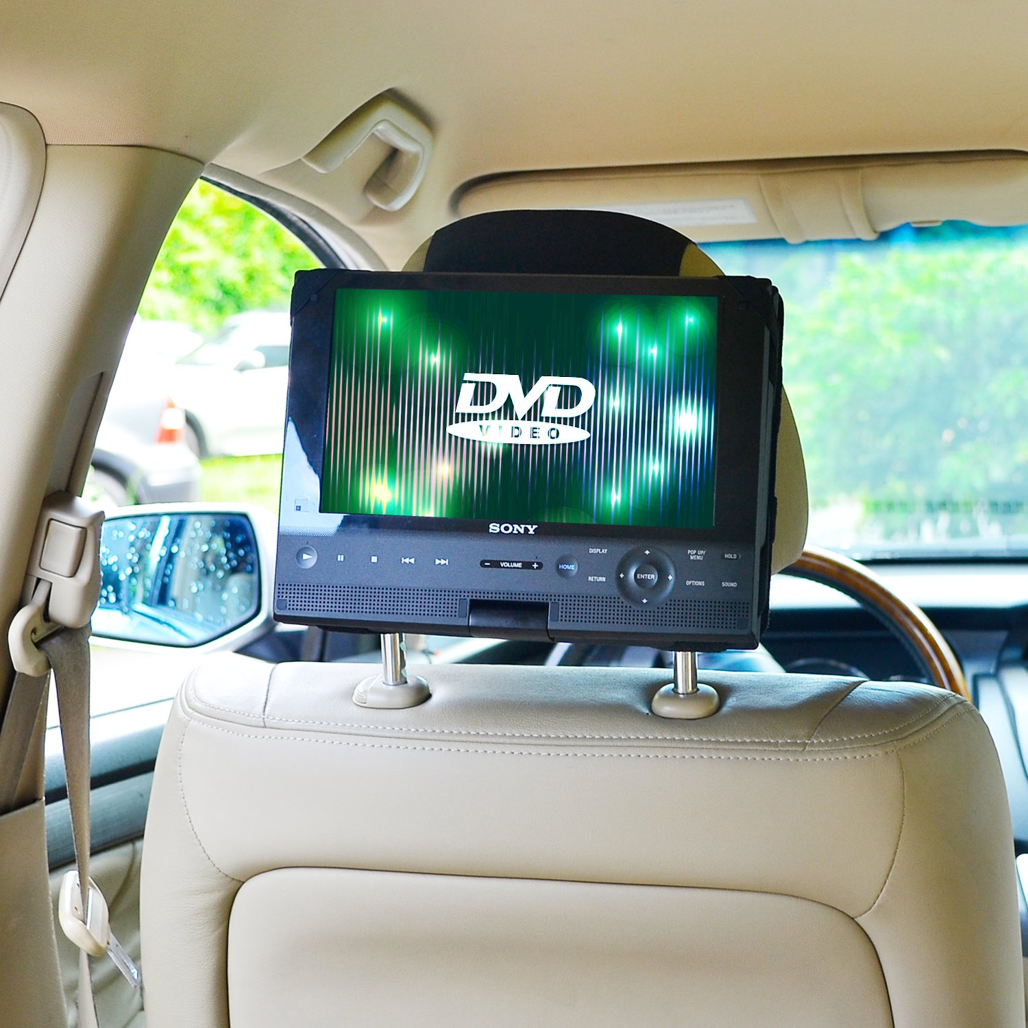 Amazon com tfy car headrest mount for swivel flip dvd player 10 inch car electronics