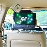 TFY Supporto Auto Poggiatesta Lettore DVD Portatile - 10 Modello Girevole e Piegabile10 Pollici