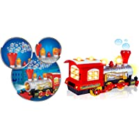 Supreme Deals® Bubble Blowing Toy Train - Battery Powered Steam Bubbles Locomotive Engine Car- Colorful Lights & Fun Sounds - Constant Motion & Automatic Change of Direction – 3 and Up
