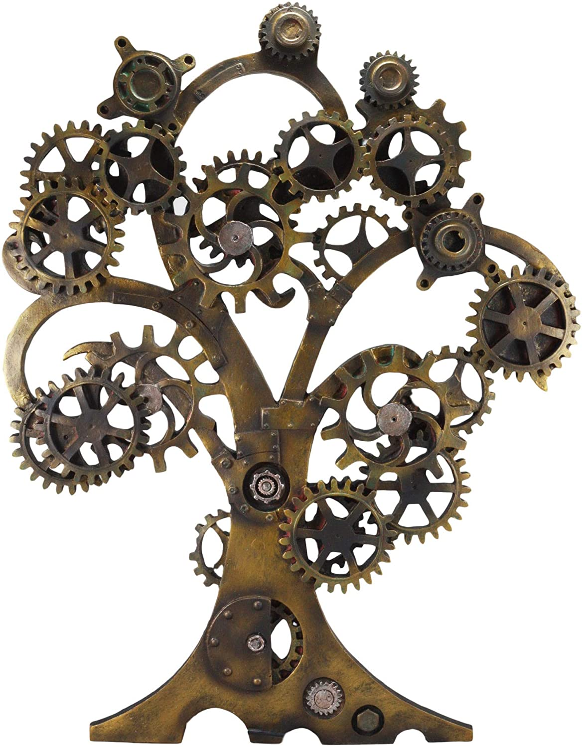 "Ebros Large 20"" High Steampunk Tree of Life Wall Decor Victorian Sci Fi Celtic Sacred Tree with Painted Gearwork Pressure Gauge Hanging Plaque Figurine"