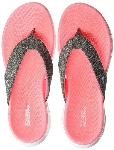 cbcd1ae3d6 Skechers ON-The-GO 600 Preferred Ladies Flip Flops Black: Amazon.co ...