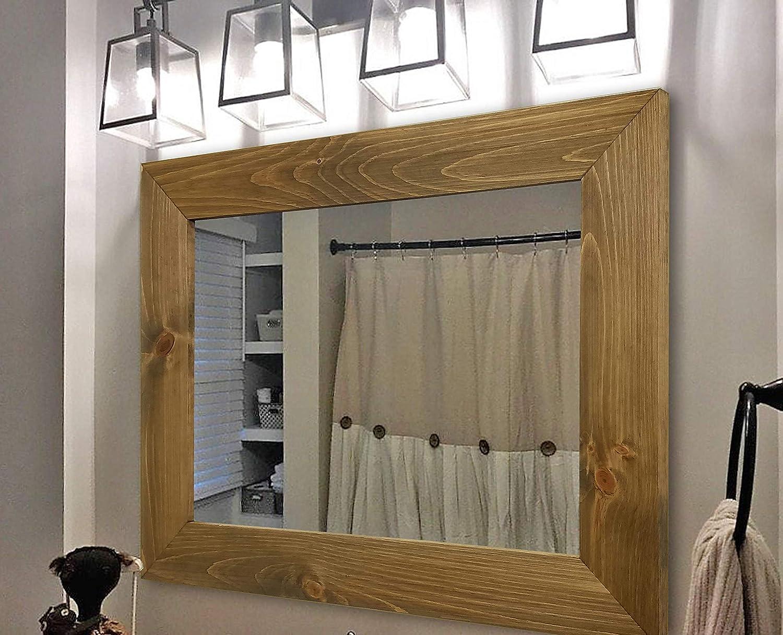 Amazon Com Shiplap Rustic Wood Framed Mirror 20 Stain Colors Large Wall Mirror Bathroom Decor Mirror For Wall Mirror Vanity Bathroom Accessories Bathroom Wall Decor Bathroom Wall Art Big Mirror Handmade
